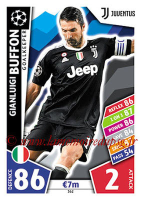 2017-18 - Topps UEFA Champions League Match Attax - N° 362 - Gianluigi BUFFON (Juventus)