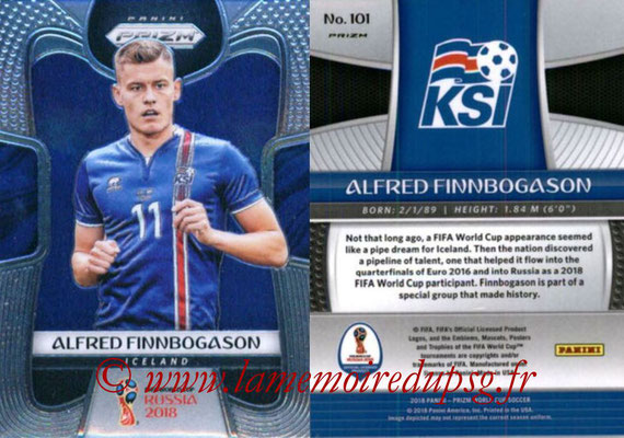 2018 - Panini Prizm FIFA World Cup Russia - N° 101 - Alfred FINNBOGASON (Islande)