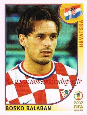 2002 - Panini FIFA World Cup Stickers - N° 490 - Bosko BALABAN (Croatie)