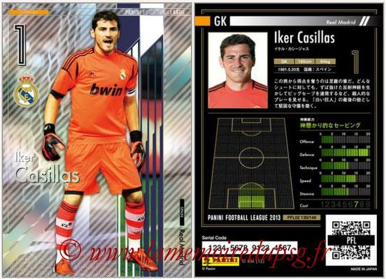 Panini Football League 2013 - PFL02 - N° 130 - Iker Casillas ( Real Madrid ) (Super GK)