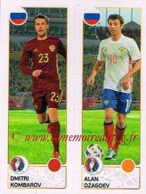 Panini Euro 2016 Stickers - N° 158 - Dmitri KOMBAROV + Alan DZAGOEV (Russie)