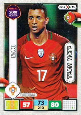 2018 - Panini Road to FIFA World Cup Russia Adrenalyn XL - N° POR16 - NANI (Portugal)