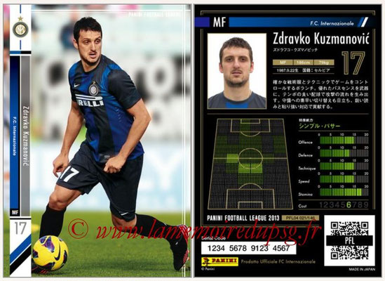 Panini Football League 2013 - PFL04 - N° 021 - Zdravko KUZMANOVIC (Inter Milan)