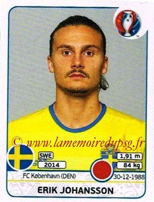 Panini Euro 2016 Stickers - N° 553 - Erik JOHANSSON (Suède)