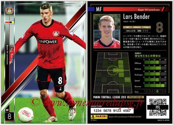Panini Football League 2013 - PFL03 - N° 109 - Lars Bender (Bayer Leverkusen)