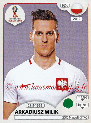 2018 - Panini FIFA World Cup Russia Stickers - N° 611 - Arkadiusz MILIK (Pologne)