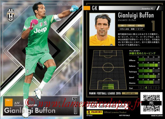 Panini Football League 2015 - PFL09P - N° 002 - Gianluigi BUFFON (Juventus Turin) (Star +)