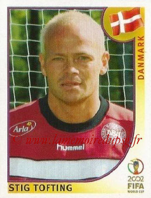2002 - Panini FIFA World Cup Stickers - N° 088 - Stig TOFTING (Danemark)