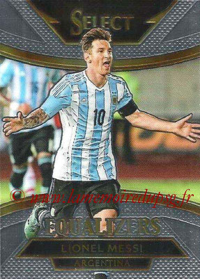 2015 - Panini Select Soccer - N° E01 - Lionel MESSI (Argentine) (Equalizers)
