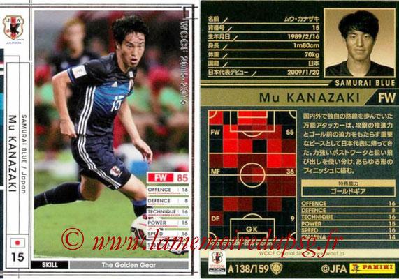 2015-16 - Panini WCCF - N° A138 - Mu KANAZAKI (Japon)