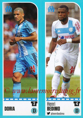 2016-17 - Panini Ligue 1 Stickers - N° 390 + 391 - DORIA +  Henri BEDIMO (Marseille)