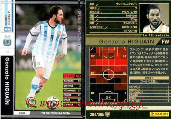 2013-14 - WCCF - N° 284 - Gonzalo HIGUAIN (Argentine)
