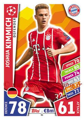 2017-18 - Topps UEFA Champions League Match Attax - N° 061 - Joshua KIMICH (FC Bayern Munich)