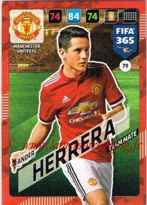 2017-18 - Panini FIFA 365 Cards - N° 079 - Ander HERRERA  (Manchester United)