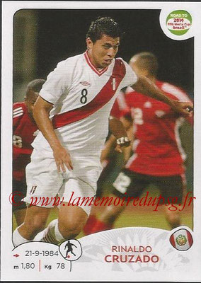 2014 - Panini Road to FIFA World Cup Brazil Stickers - N° 221 - Rinaldo CRUZADO (Pérou)