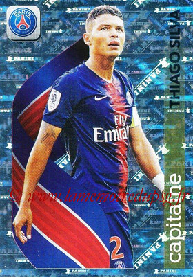 2018-19 - Panini Ligue 1 Stickers - N° 372 - Thiago SILVA (Paris Saint-Germain) (Capitaine)
