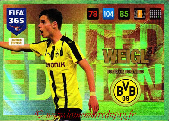 2016-17 - Panini Adrenalyn XL FIFA 365 - N° LE28 - Julian WEIGL (Borussia Dortmund) (Limited Edition)site