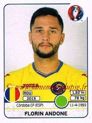 Panini Euro 2016 Stickers - N° 066 - Florin ANDONE (Roumanie)