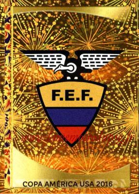 Panini Copa America Centenario USA 2016 Stickers - N° 134 - Logo Equateur