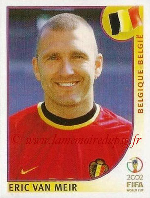 2002 - Panini FIFA World Cup Stickers - N° 556 - Eric VAN MEIR (Belgique)