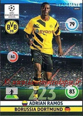 2014-15 - Adrenalyn XL champions League Update edition N° UE043 - Adrian RAMOS (Borussia Dortmund)