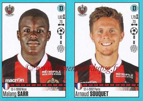 2016-17 - Panini Ligue 1 Stickers - N° 658 + 659 - Malang SARR + Arnaud SOUQUET (Nice)