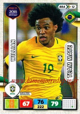2018 - Panini Road to FIFA World Cup Russia Adrenalyn XL - N° BRA12 - WILLIAN (Brésil)