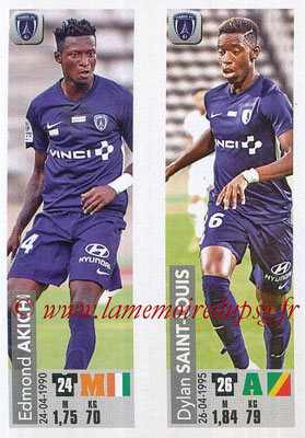 2018-19 - Panini Ligue 1 Stickers - N° 552 - Edmond AKICHI + Dylan SAINT-LOUIS (Paris FC)
