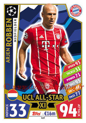 2017-18 - Topps UEFA Champions League Match Attax - N° 437 - Arjen ROBBEN (FC Bayern Munich) (UCL All-Star XI)
