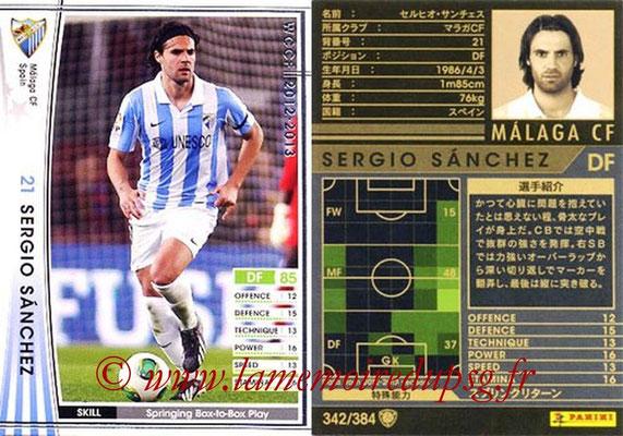 2012-13 - WCCF - N° 342 - Sergio SANCHEZ (Malaga CF)