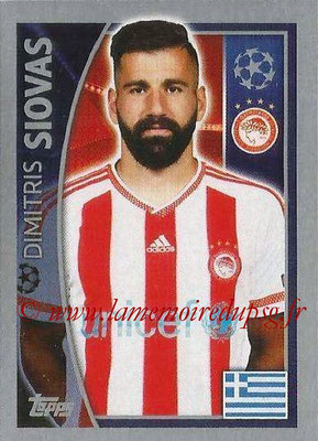 2015-16 - Topps UEFA Champions League Stickers - N° 412 - Dimitris SIOVAS (Olympiacos FC)