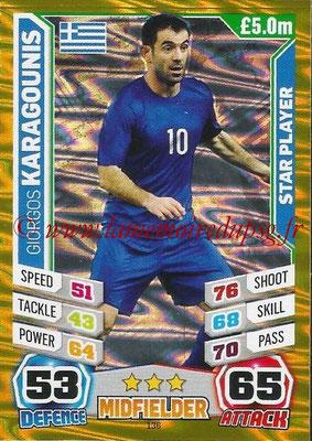 Topps Match Attax England 2014 - N° 136 - Giorgos KARAGOUNIS (Grèce) (Star Player)