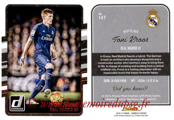2016 - Panini Donruss Cards - N° 147 - Toni KROOS (Real Madrid CF)