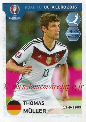 Panini Road to Euro 2016 Stickers - N° 064 - Thomas MULLER (Allemagne)