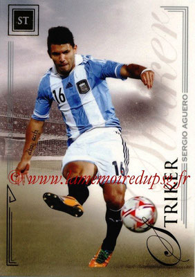 2014 - Futera World Football Unique - N° 064 - Sergio AGUERO (Striker)