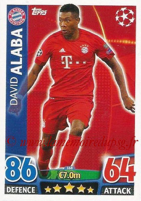 2015-16 - Topps UEFA Champions League Match Attax - N° 168 - David ALABA (FC Bayern Munich)