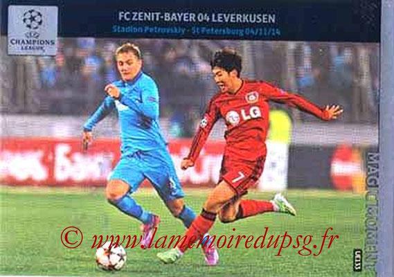 2014-15 - Adrenalyn XL champions League Update edition N° UE133 - FC Zenith-Bayer Leverkusen (Magic Moment)