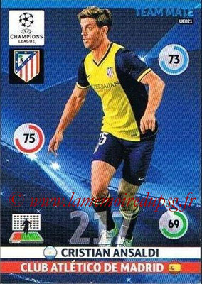 2014-15 - Adrenalyn XL champions League Update edition N° UE021 - Cristian ANSALDI (Atletico Madrid)