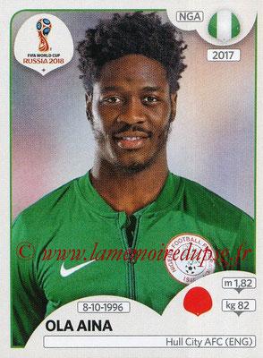 2018 - Panini FIFA World Cup Russia Stickers - N° 340 - Ola AINA (Nigeria)