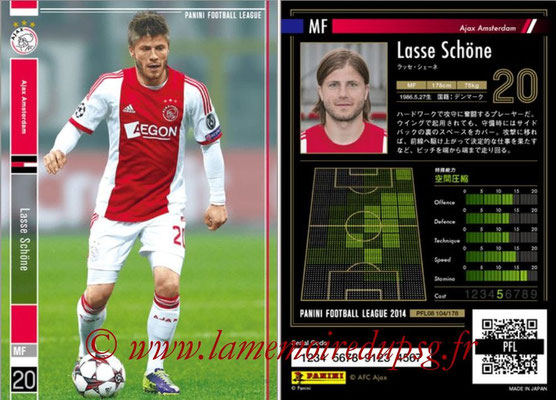 Panini Football League 2014 - PFL08 - N° 104 - Lasse SCHÖNE (Ajax Amsterdam)