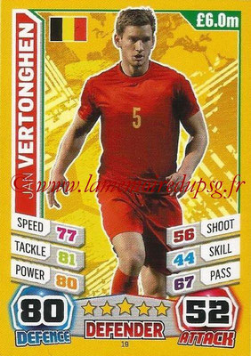 Topps Match Attax England 2014 - N° 019 - Jan VERTONGHEN (Belgique)