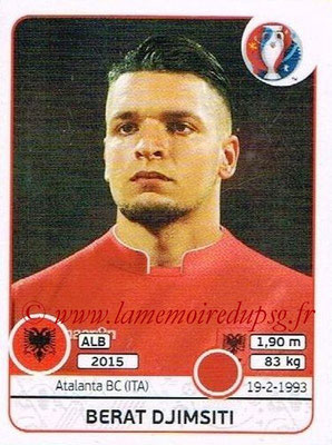 Panini Euro 2016 Stickers - N° 070 - Berat DJIMSITI (Albanie)