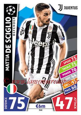 2017-18 - Topps UEFA Champions League Match Attax - N° 368 - Mattia DE SCIGLIO (Juventus)