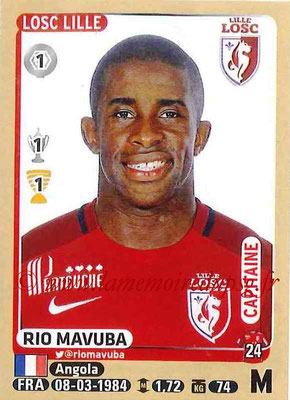 2015-16 - Panini Ligue 1 Stickers - N° 159 - Rio MAVUBA (Lille OSC) (Capitaine)