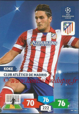 2013-14 - Adrenalyn XL champions League N° 059 - KOKE (Club Atlético de Madrid)