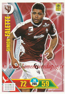 2017-18 - Panini Adrenalyn XL Ligue 1 - N° 166 - Simon FALETTE (Metz)