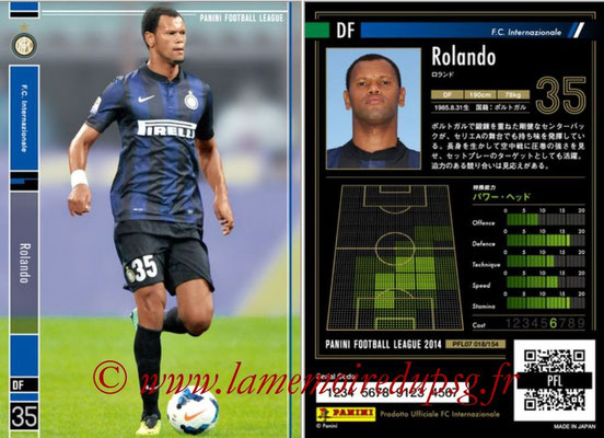 Panini Football League 2014 - PFL07 - N° 018 - ROLANDO (Inter)