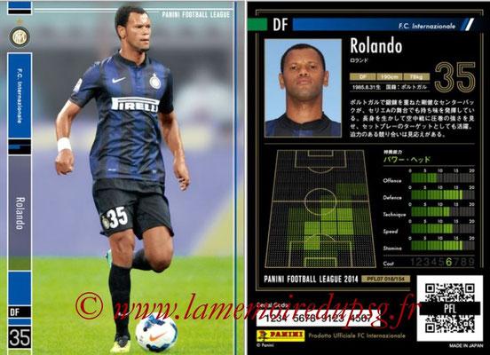 Panini Football League 2014 - PFL07 - N° 018 - ROLANDO (Inter)