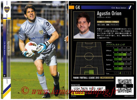 Panini Football League 2013 - PFL01 - N° 111 - Agustin Orion ( C.A. Boca Juniors )