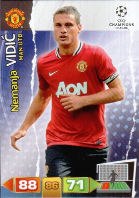 2011-12 - Panini Champions League Cards - N° 145 - Nemanja VIDIC (Manchester United FC)